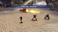 Sandworm uses Throw Sand