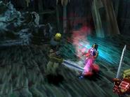 Ghost Knight uses Slash on Haschel