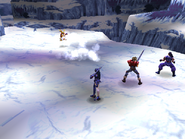 Land Skater uses Spear Frost