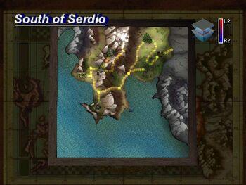 Map (South of Serdio)