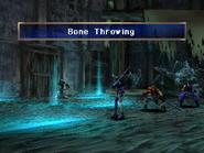 Skeleton uses Bone Throwing