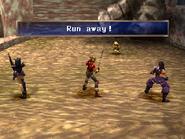 Crafty thief running away