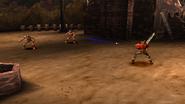 Knight of Sandora uses Dagger Throw