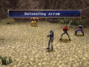 Arrow shooter using detonating arrow