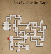 Level 1 - hůl z bílého dřeva
