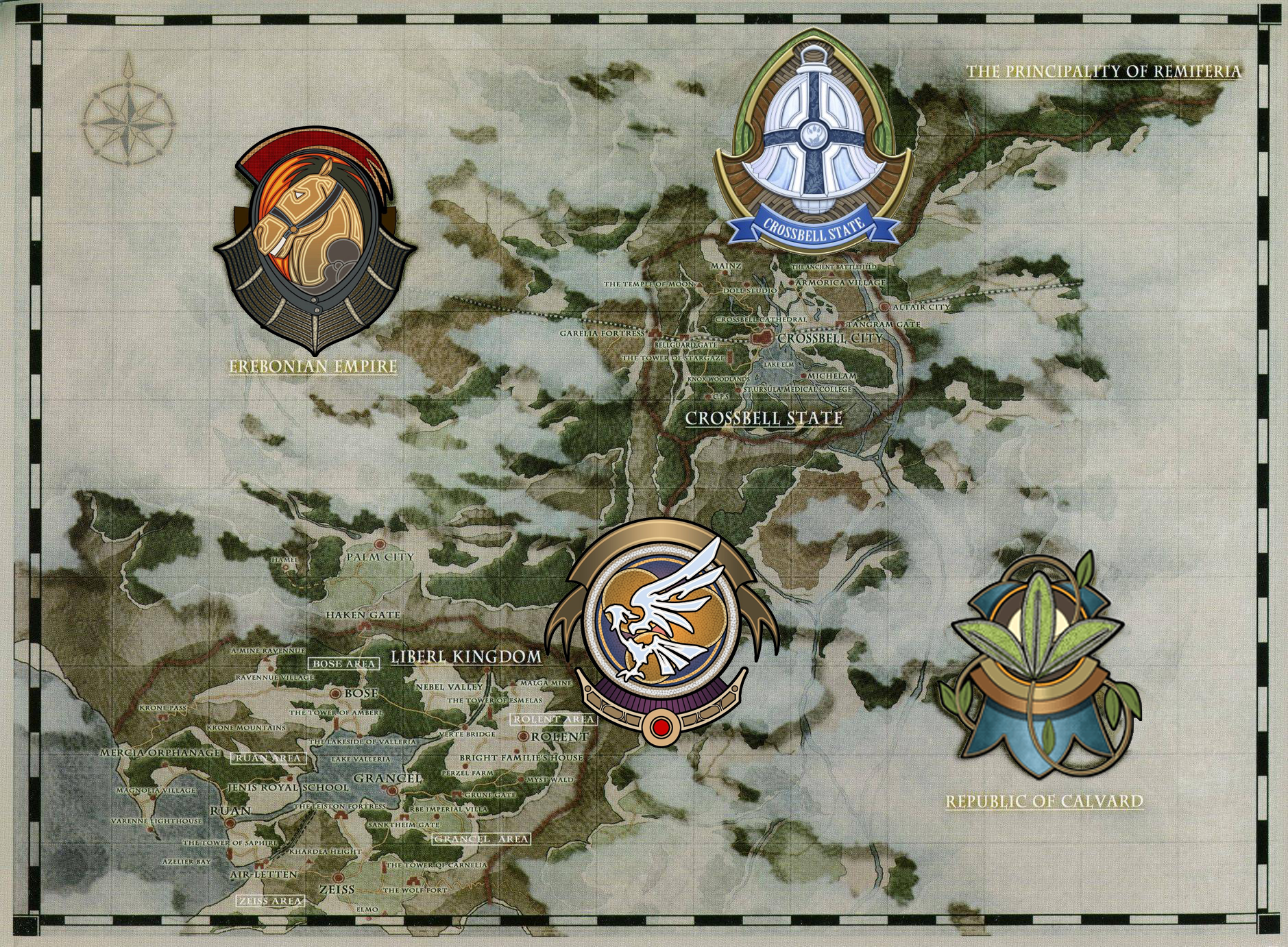 Trails Of Cold Steel World Map.Zemuria Legend Of Heroes Series Wiki Fandom Powered By Wikia