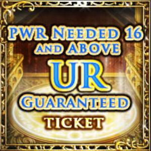 16-PWR & Up UR Ticket