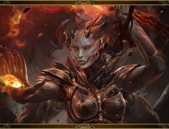 (Befallen) Dark Flame-Edge Spirit