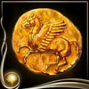 Yellow Ancient Coin