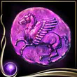 Purple Ancient Coin