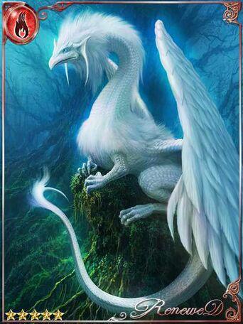 (Intentive) Alabaster Plumed Dragon