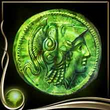 Green Ancient Coin EX