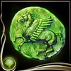 Green Ancient Coin