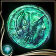 Turquoise Ancient Coin EX