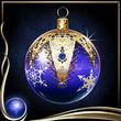 Blue Christmas Ornament EX