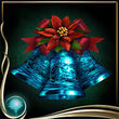Turquoise Christmas Bells EX