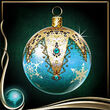 Turquoise Christmas Ornament EX