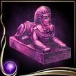 Purple Sphinx Figure