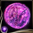 Purple Ancient Coin EX