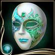 Turquoise Masquerade Mask EX
