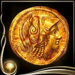 Yellow Ancient Coin EX