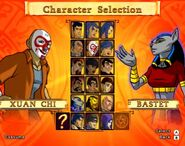 The legend of the dragon character select