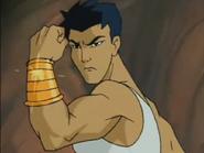 Ang wearing his Power Band