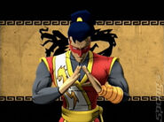 Aang in the legend of the dragon videogame