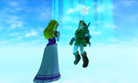 Oot3D Link and Zeld adulthood