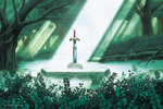 ALttP Sacred Grove & Master Sword Artwork