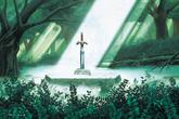 ALttP Sacred Grove & Master Sword Artwork