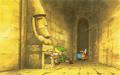 LoZ Exploring Dungeon Artwork