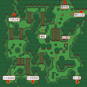 Alttp Lost Woods(Items&Road)
