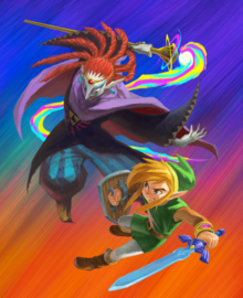 ALBW Link Fighting Yuga Artwork