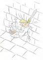 TLoZ Wall Master Grabbing Link Artwork
