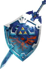 Master Sword Hylian Shield