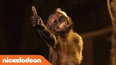 Legends of the Hidden Temple BTS w Mikey the Monkey Nick