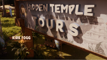 Green Monkey on the Hidden Temple Tours Sign