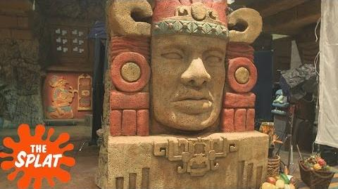 Olmec is Back! Legends of the Hidden Temple The Movie The Splat