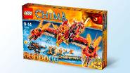 70146 Flying Phoenix Fire Temple Box