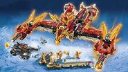 70146 Flying Phoenix Fire Temple Model