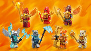 70146 Flying Phoenix Fire Temple Minifigures