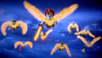 Laval Team with Fire Wings