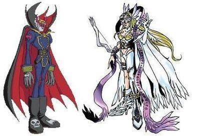 Angewomon and myotismon