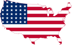 Flag Map of the United States 1912 - 1959