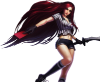 Red card katarina render by gokunks-d7pu2s7