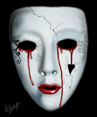 Crying behind the mask by anna elizabeth