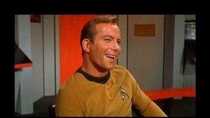 Captain kirk very happy