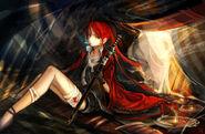 Konachan-com-98989-carv-gloves-katana-pixiv fantasia-red hair-sword-weapon