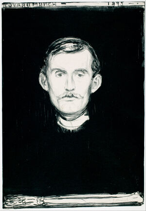 Edvard Munch - Self-Portrait (1895) G0192-59 - Google Art Project